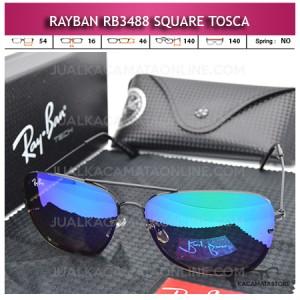 Kacamata Rayban Aviator Terbaru Rb3488 Square Tosca