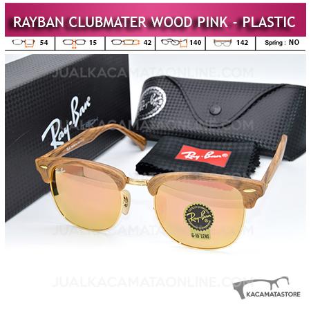 Harga Kacamata Rayban Clubmaster Wood Pink