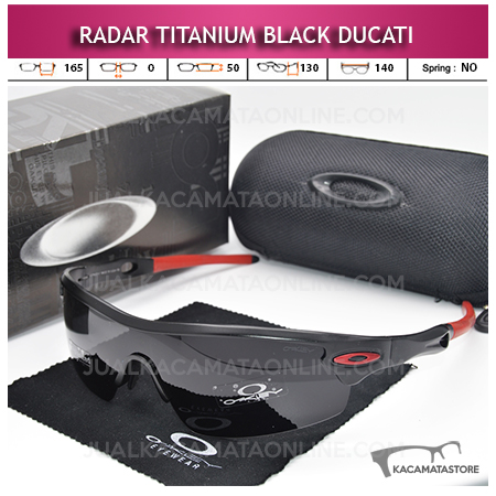 Kacamata Sepeda Terbaru Oakley Radar Titanium Black Ducati