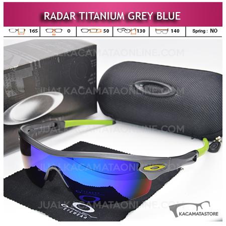 Harga Kacamata Sepeda Oakley Radar Titanium Grey Blue