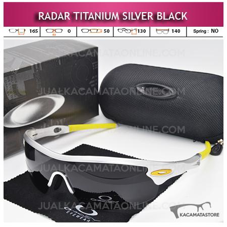 Model Kacamata Sepeda Oakley Radar Titanium Silver Black