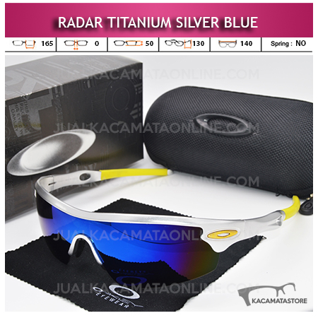 Jual Kacamata Sepeda Oakley Radar Titanium Silver Blue