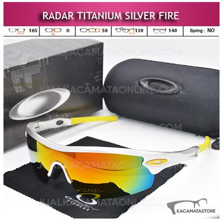 Jual Kacamata Sepeda Terbaru Oakley Radar Titanium Silver Fire