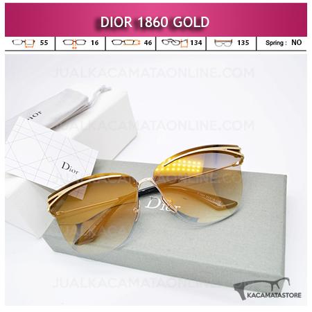 Grosir Kacamata Wanita Terbaru Dior 1860 Gold