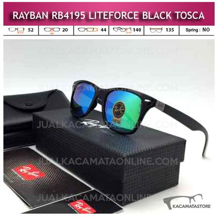 Model Kacamata Rayban Wayfarer Liteforce Black Tosca