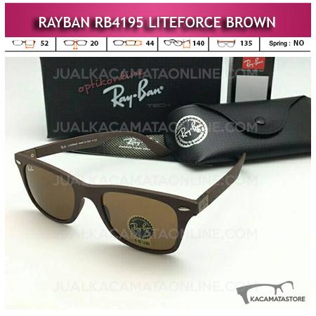 Model Kacamata Rayban Wayfarer Liteforce Brown