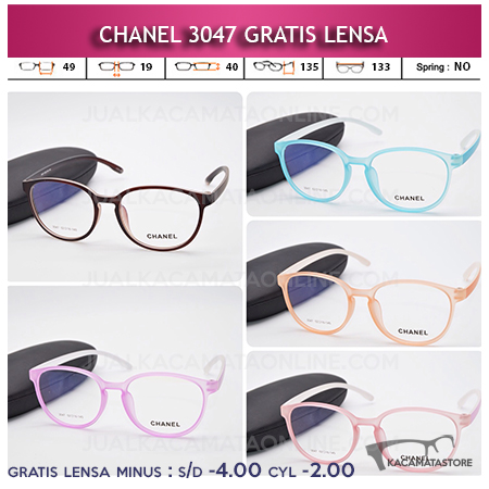 Jual Frame Kacamata Chanel 3047 Gratis Lensa