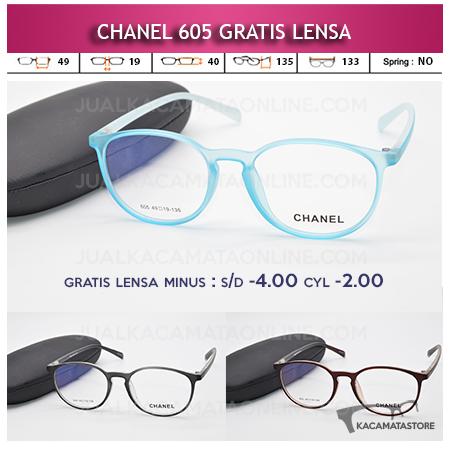 Jual Frame Kacamata Chanel 605 Gratis Lensa
