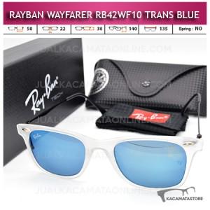 Model Kacamata Rayban Wayfarer Terbaru Rb42WF10 Trans Blue