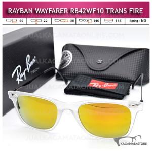 Model Kacamata Rayban Wayfarer Terbaru Rb42WF10 Trans Fire