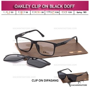 Jual Kacamata Clip On Double Lensa Oakley Black