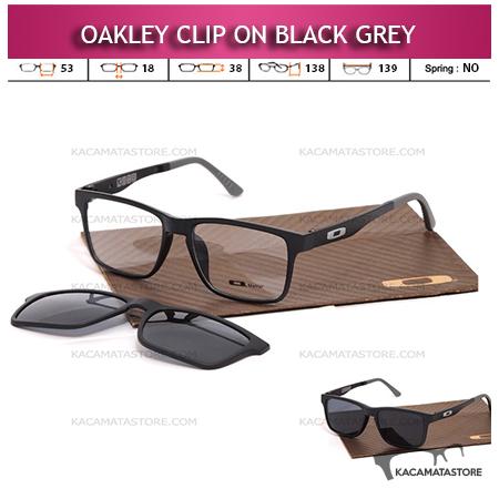 Kacamata Clip On Double Lensa Oakley Black Grey