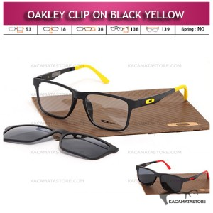 Kacamata Clip On Double Lensa Oakley Black Red Yellow
