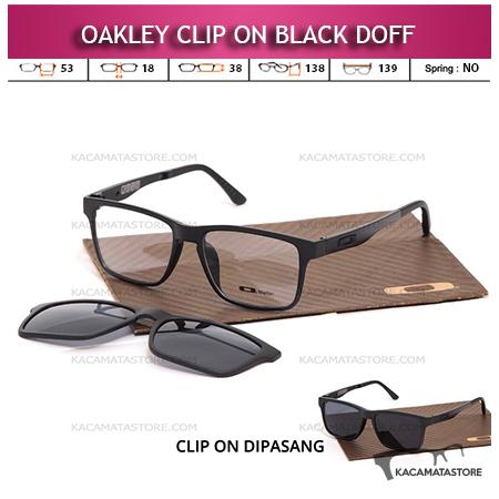 Jual Kacamata Clip On Double Lensa Oakley Black