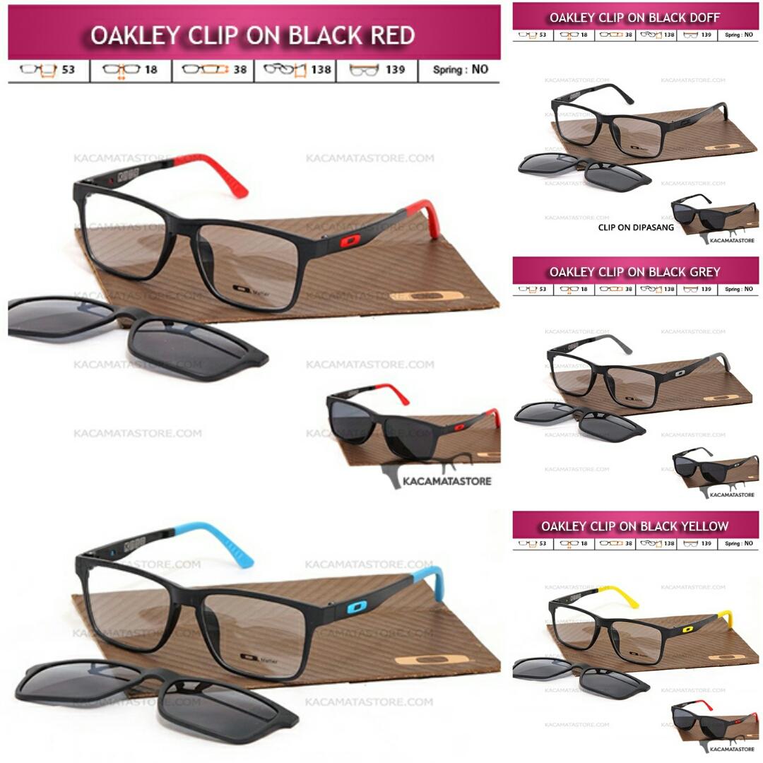 Jual Kacamata Clip On Double Lensa Oakley Terbaru