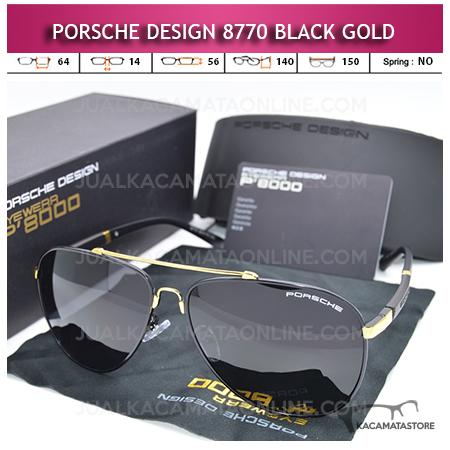 Jual Kacamata Porsche Design 8770 Polarized Black Gold
