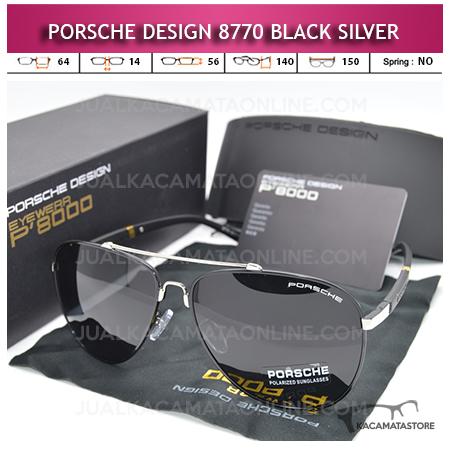 Kacamata Porsche Design 8770 Polarized Black Silver