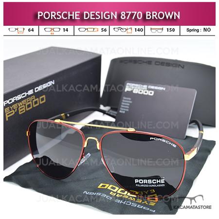 Kacamata Porsche Design 8770 Polarized Brown