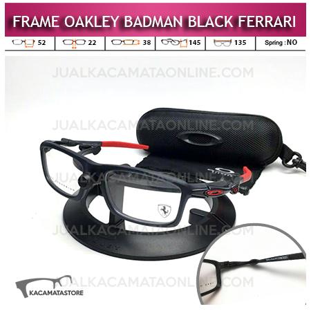 Model Frame Kacamata Oakley Badman Black Ferrari