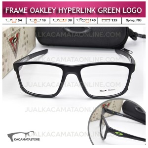 Model Frame Kacamata Oakley Hyperlink Green Logo