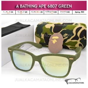 Kacamata A Bathing Ape 6807 Streetwear Green