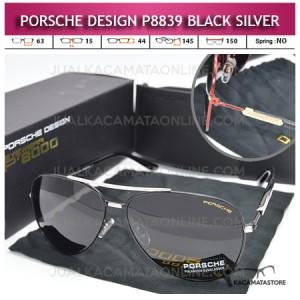Model Kacamata Gaya Porsche Design P8839 Black Silver