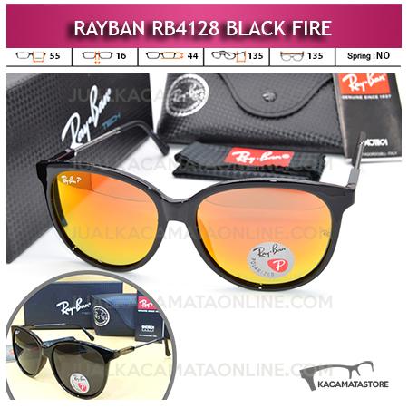 Model Kacamata Gaya Rayban Rb4128 Black Fire