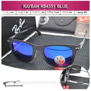 Jual Kacamata Gaya Rayban Rb4351 Blue