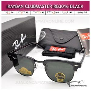 Moel Kacamata Rayban Clubmaster Rb3016 Black