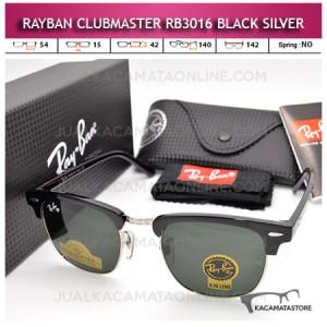 Jual Kacamata Rayban Clubmaster Rb3016 Black Silver