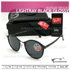 Harga Kacamata Rayban Terbaru Rb4242 Lightray Black Glossy