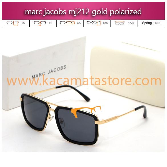 harga kacamata gaya marc jacobs mj212 gold polarized