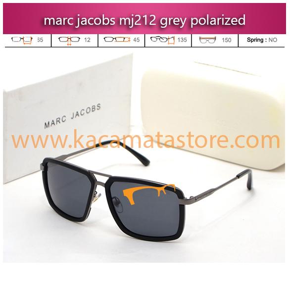 jual kacamata gaya terbaru marc jacobs mj212 grey polarized