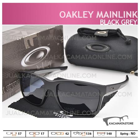 Gambar Kacamata Pria Oakley Mainlink Black Grey, Harga Kacamata Pria Terbaru