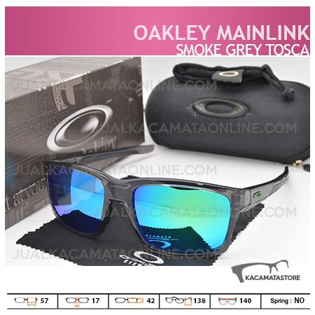 Gambar Kacamata Pria Oakley Mainlink Grey Smoke Tosca, Harga Kacamata Pria Terbaru
