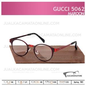 Kacamata Minus Gucci 5062 Maroon