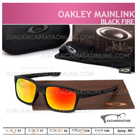 Toko Kacamata Pria Terbaru Oakley Mainlink Black Fire