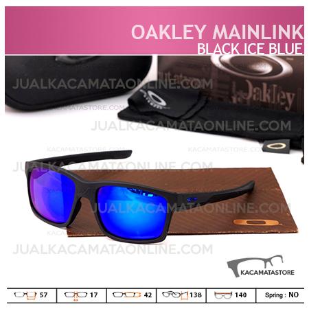 Harga Kacamata Pria Terbaru Oakley Mainlink Black Ice Blue