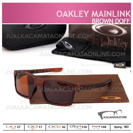 Jual Kacamata Pria Oakley Mainlink Brown Doff