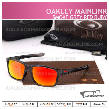 Jual Kacamata Pria Oakley Mainlink Smoke Grey Red Ruby