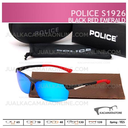 Kacamata Pria Police S1926 Black Red Emerald