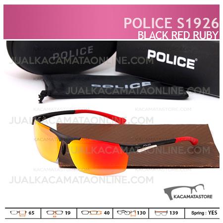 Kacamata Pria Police S1926 Black Red Ruby