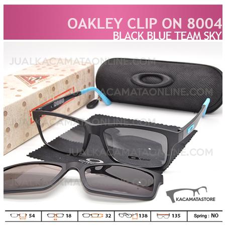 harga Kacamata Double Lensa Clip On Oakley 8004 Black Blue