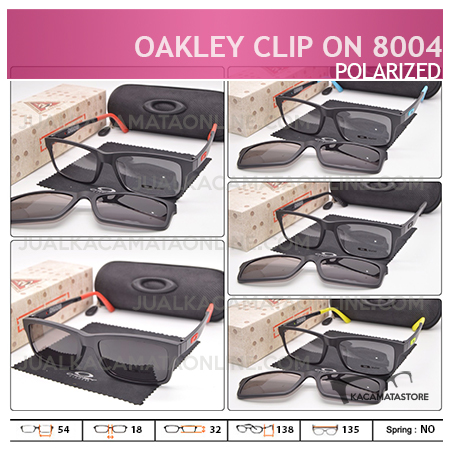Gambar Kacamata Double Lensa Clip On Oakley 8004 Polarized