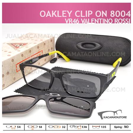 gambar Kacamata Double Lensa Clip On Oakley 8004 VR46 Valentino Rossi