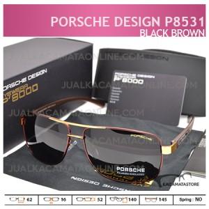 harga Kacamata Pria Terbaru Porsche Design P8531 Black Brown