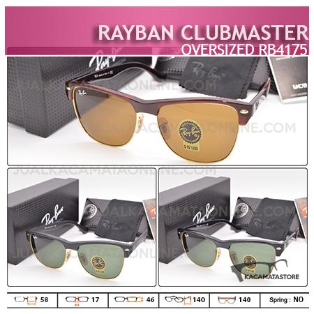 Gambar Kacamata Rayban Terbaru Clubmaster Oversized Rb4175 | Harga Kacamata Murah