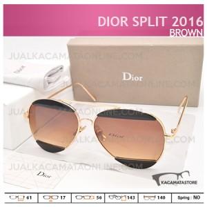 Model Kacamata Wanita Terbaru Dior Split 2016 Brown