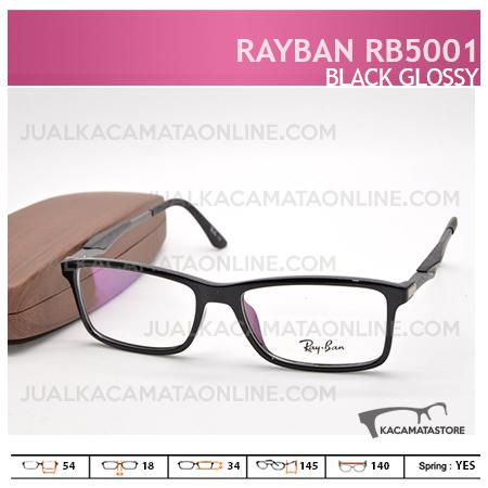 Harga Frame Kacamata Rayban Rb5001 Black Glossy