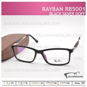 Gambar Frame Kacamata Rayban Rb5001 Black Silver Doff